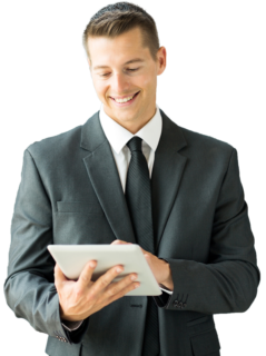 abatto® office people - Mann mit Tablet